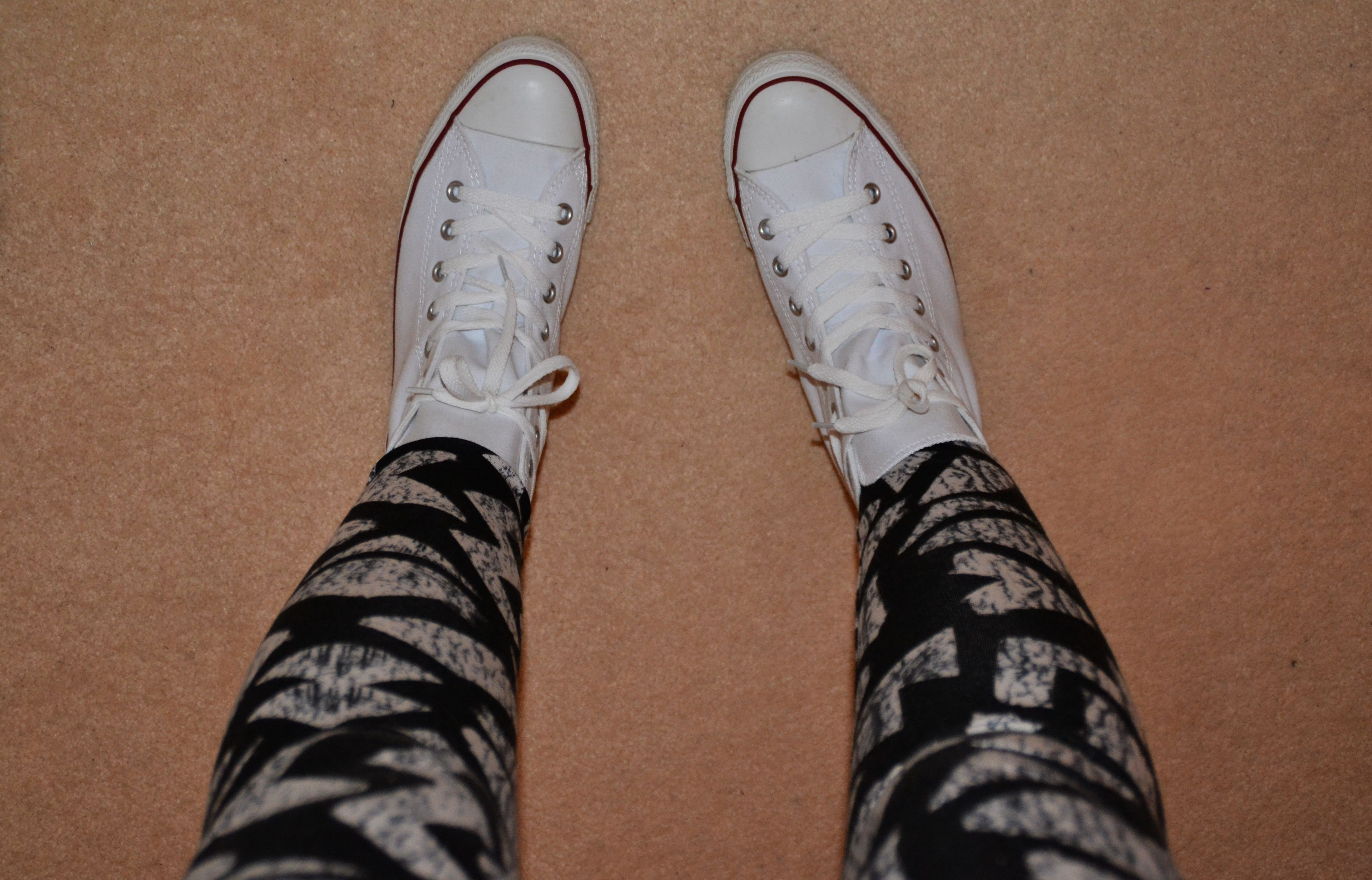 c5570cc0da36f7 Today I m Wearing my new Topshop leggings! .. and Topshop jumper infact!  along with my lovely white Converse and a grey sleeveless vest top I had in  my ...